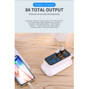 8 Ports Quick Charge 3.0 Led Display USB Charger